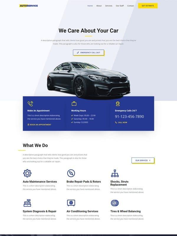 Website Bengkel Mobil